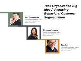 Task Organization Big Idea Advertising Behavioural Customer Segmentation Cpb
