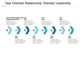 Task Oriented Relationship Oriented Leadership Ppt Powerpoint Ideas Cpb