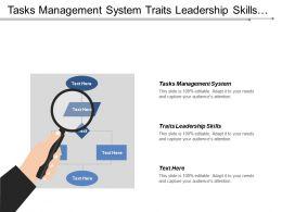 Tasks Management System Traits Leadership Skills Chatbot Marketing Cpb