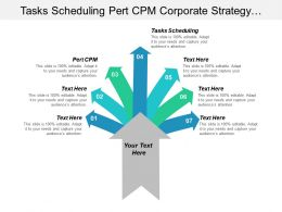 Tasks Scheduling Pert Cpm Corporate Strategy Targeting Segmentation Cpb