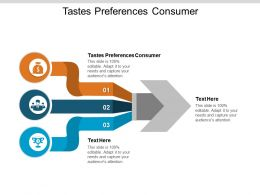 Tastes Preferences Consumer Ppt Powerpoint Presentation Show Clipart Cpb