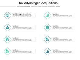 Tax Advantages Acquisitions Ppt Powerpoint Presentation Portfolio File Formats Cpb