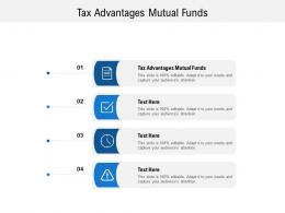 Tax Advantages Mutual Funds Ppt Powerpoint Presentation Layouts Picture Cpb