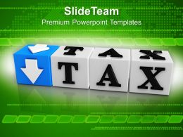 Tax Button Block Cube Business PowerPoint Templates PPT Themes And Graphics 0213