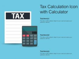 Tax Calculation Icon With Calculator