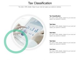 Tax Classification Ppt Powerpoint Presentation Professional Grid Cpb
