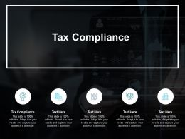 Tax Compliance Ppt Powerpoint Presentation Portfolio Show Cpb