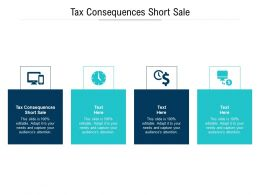 Tax Consequences Short Sale Ppt Powerpoint Presentation Portfolio Graphic Tips Cpb