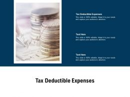 Tax Deductible Expenses Ppt Powerpoint Presentation Styles Influencers Cpb