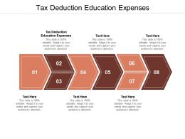 Tax Deduction Education Expenses Ppt Powerpoint Pictures Graphic Tips Cpb