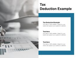Tax Deduction Example Ppt Powerpoint Presentation Ideas Master Slide Cpb