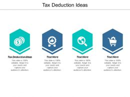 Tax Deduction Ideas Ppt Powerpoint Presentation Layouts Summary Cpb