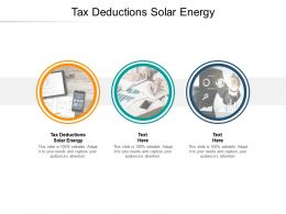 Tax Deductions Solar Energy Ppt Powerpoint Presentation Gallery Topics Cpb