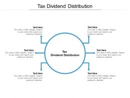 Tax Dividend Distribution Ppt Powerpoint Presentation Inspiration Picture Cpb