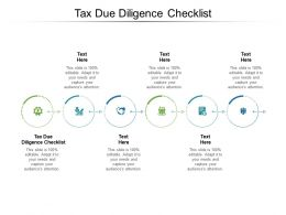 Tax Due Diligence Checklist Ppt Powerpoint Presentation Styles Shapes Cpb