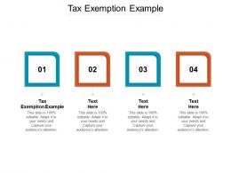 Tax Exemption Example Ppt Powerpoint Presentation Background Images Cpb