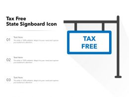 Tax Free State Signboard Icon