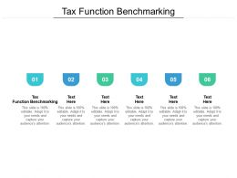 Tax Function Benchmarking Ppt Powerpoint Presentation Infographic Template Sample Cpb