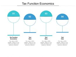Tax Function Economics Ppt Powerpoint Presentation Slides Icon Cpb