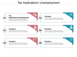 Tax Implications Unemployment Ppt Powerpoint Presentation Show Brochure Cpb