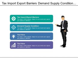 Tax Import Export Barriers Demand Supply Condition Empowering Youth