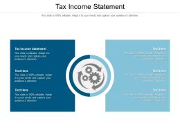 Tax Income Statement Ppt Powerpoint Presentation Layouts Master Slide Cpb