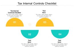 Tax Internal Controls Checklist Ppt Powerpoint Presentation Infographic Template Graphics Design Cpb