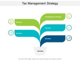Tax Management Strategy Ppt Powerpoint Presentation Slides Inspiration Cpb
