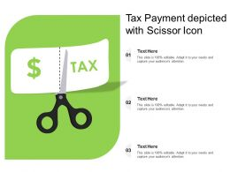 Tax Payment Depicted With Scissor Icon