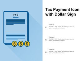 Tax Payment Icon With Dollar Sign
