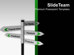 Tax Planning Financial Signpost Investment Powerpoint Templates Ppt Backgrounds For Slides 0113
