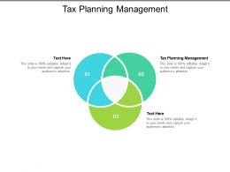 Tax Planning Management Ppt Powerpoint Presentation Pictures Cpb