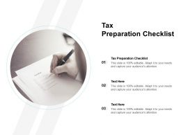 Tax Preparation Checklist Ppt Powerpoint Presentation Layouts Mockup Cpb