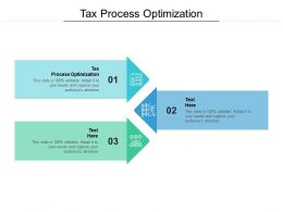 Tax Process Optimization Ppt Powerpoint Presentation Ideas Brochure Cpb