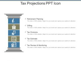Tax Projections Ppt Icon