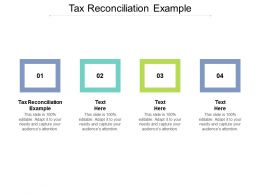 Tax Reconciliation Example Ppt Powerpoint Presentation Pictures Visual Aids Cpb