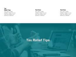 Tax Relief Tips Ppt Powerpoint Presentation Icon Introduction Cpb