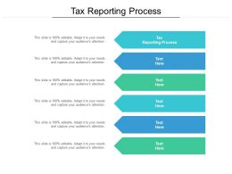 Tax Reporting Process Ppt Powerpoint Presentation Summary Visuals Cpb