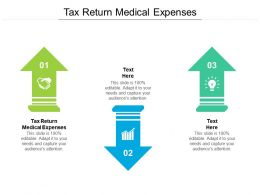 Tax Return Medical Expenses Ppt Powerpoint Presentation Gallery Ideas Cpb