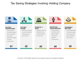 Tax Saving Strategies Involving Holding Company
