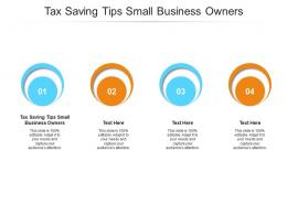 Tax Saving Tips Small Business Owners Ppt Powerpoint Presentation Slides Cpb