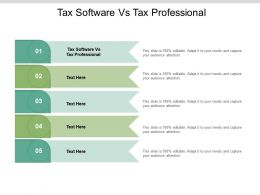 Tax Software Vs Tax Professional Ppt Powerpoint Presentation Layouts Files Cpb
