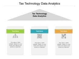 Tax Technology Data Analytics Ppt Powerpoint Presentation Inspiration Cpb
