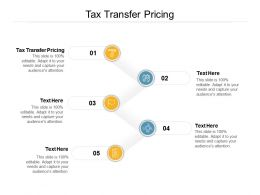 Tax Transfer Pricing Ppt Powerpoint Presentation Gallery Graphics Cpb