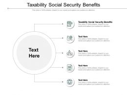 Taxability Social Security Benefits Ppt Powerpoint Presentation Pictures Show Cpb