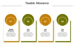 Taxable Allowance Ppt Powerpoint Presentation Infographics Graphics Cpb