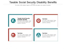 Taxable Social Security Disability Benefits Ppt Powerpoint Presentation Infographics Cpb