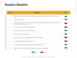 Taxation Checklist Audiences Attention Ppt Powerpoint Presentation Portfolio