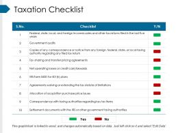 Taxation Checklist Ppt Sample Presentations