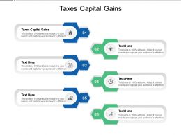 Taxes Capital Gains Ppt Powerpoint Presentation Infographics Tips Cpb